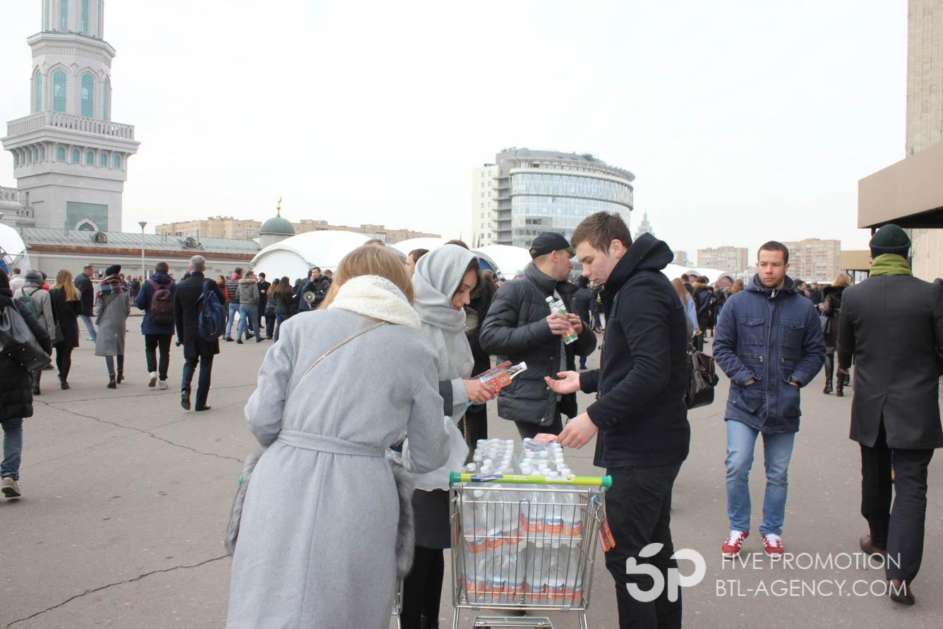 , Раздача брендированной воды на форуме в СК Олимпийский