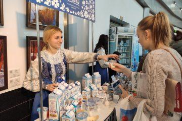 , Мама Party в ТРЦ Гудзон, дегустация и продажа молочной продукции